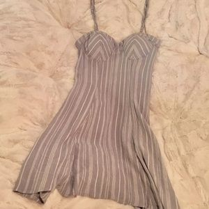Pinstriped Dress With Removable Straps